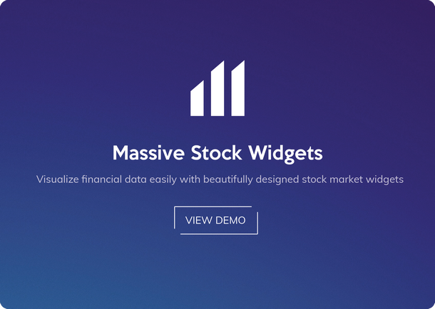 Massive Stock & Forex Widgets - 1